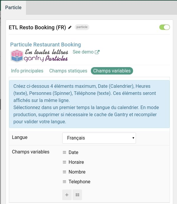 booking variables fr